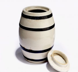 Ceramic Honey Pot/ Pickle Jar, Manufactured by E.I. D. Parry, Tamil Nadu, c.1950- 1970