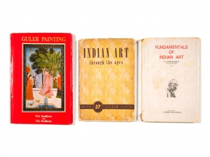 A collection of three books: Indian Art Through The Ages (1951), Guler Paintings (1982) and Fundamentals of Indian Art (1985)