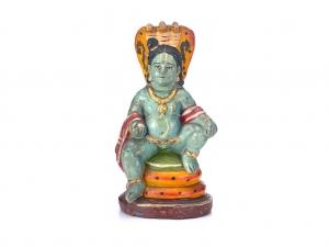 Golu Doll of Krishna seated on Seshasayi