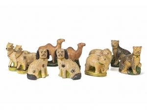 A Group Of Vintage Golu Doll Animals