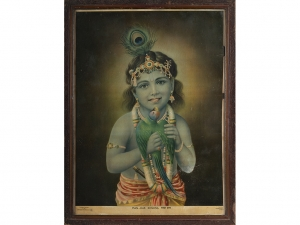 Rare Oleograph of Manhar Krishna printed in Germany