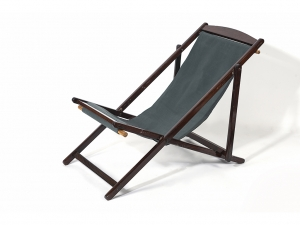 Vintage Easy Chair with Canvas Seat.