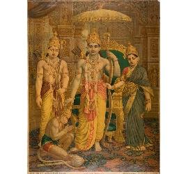 Ravi Varma FAL print of Kothanda Ram by G. Venkatesh Rao